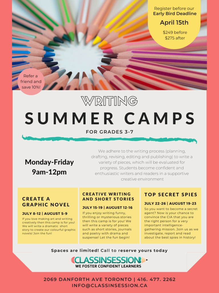 Reading and Writing Summer Camps | Class in Session